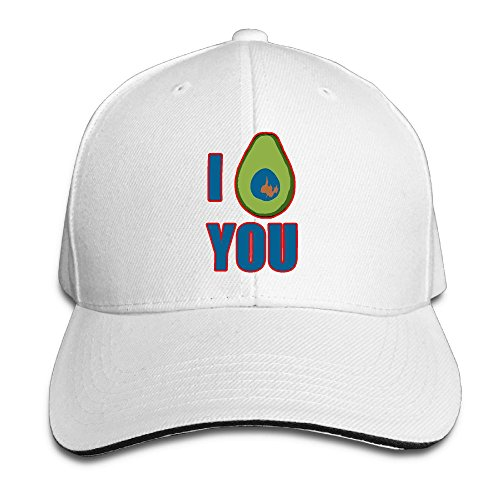 Arizona White Sport Hat (I Love Avocado Unisex Classic Adjustable Baseball Cap Sports Hats White)