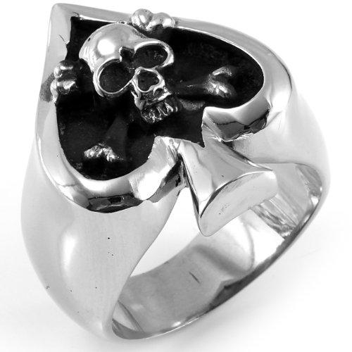 JewelryWe Herren-Ring Totenkopf Schädel