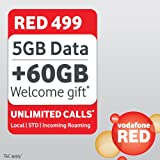 Vodafone Red 499 Unlimited Postpaid Plan SIM Card