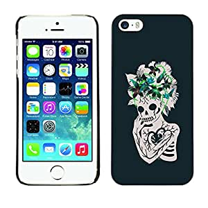 Shell-Star Arte & diseño plástico duro Fundas Cover Cubre Hard Case Cover para Apple iPhone 5 / iPhone 5S ( Floral Heart Skull Skeleton Flowers )