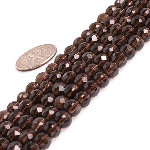 AAA Natural Round Smoky Quartz Beads for Jewelry Making 15'' (4MM/Faceted) Quartz 4mm Faceted Round Beads