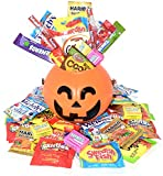 #1: Halloween Care Package Gift Basket - Over 2.5 Pound Candy and Snacks - Perfect for kids, girls, boys, and college students - Comes with Halloween Bucket