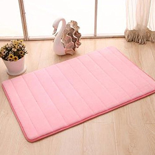 Entrance Welcome Mat Indoor Shoe Scrap Front Porch Decorate Office Foyer Hall Entryway Floor Mat Bedroom Carpet Home Kitchen Rug,Pink by Dioline