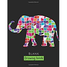 """Blank Drawing Book: 150 Pages, Extra Large 8.5"""" x 11"""" Sketchbook,  White Paper - Best for Crayons, Colored Pencils, Watercolor Paints and Very Light Fine Tip Markers"""