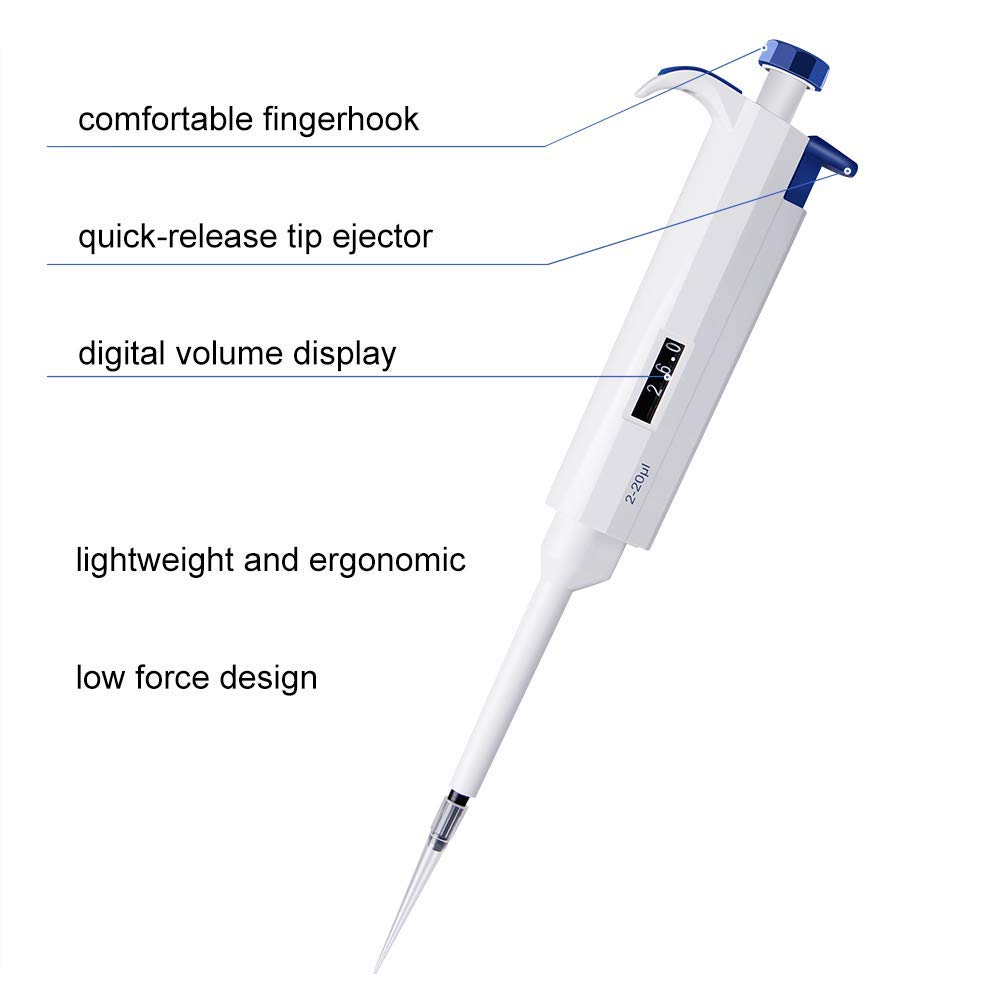 0,1-2,5 ul 1 Four ES Scientific Pipetteur /à micropipette variable autoclavable 0,1 /à 10 ml