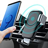 TORRAS Wireless Car Charger Mount, Auto-Clamping Fast Charger Car Air Vent Cell Phone Holder 10W Compatible for Samsung Galaxy Note 9 / S9 / S9+ / S8, 7.5W for iPhone Xs/Xs Max/XR / X / 8/8 Plus