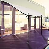 ProBache - Auvent pergola adossé pour terrasse GM 3 x 4 m avec toile écrue