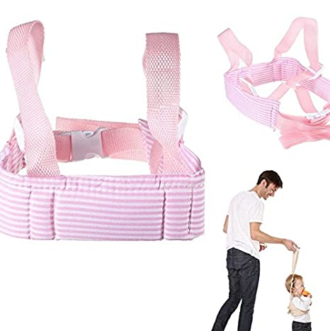Arnes andador primeros pasos acolchado y ajustable color rosa de ...