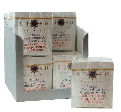 Stash Tea Fusion Red, White & Blueberry Tea, 18 Count Tea Bags in Foil (Pack of 6)