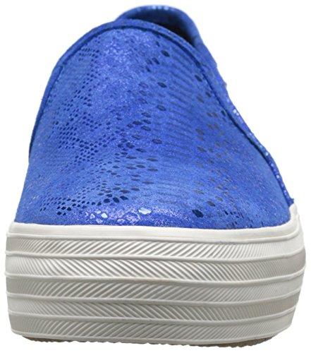 Keds TRIPLE Decker exótico de la mujer Shimmer Fashion Sneaker Azul