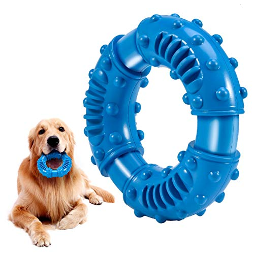 Feeko Dog Chew Toys for Aggressive Chewers Large Breed, Non-Toxic Natural Rubber Long Lasting Indestructible Dog Toys…