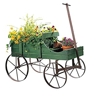 Collections Etc Amish Wagon Decorative Indoor/Outdoor Garden Backyard Planter 1