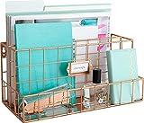Best blu Home Organizers - Blu Monaco Rose Gold Desk Organizer - Mail Review
