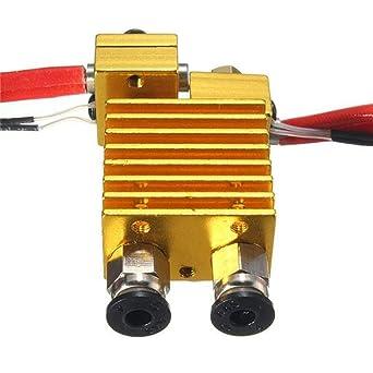 Extrusor de doble cabezal V6 con cable para impresora 3D ...