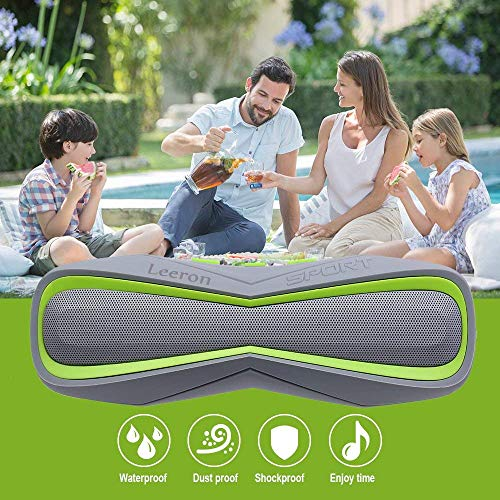 Waterproof Bluetooth Speaker,Bluetooth Speaker Portable Wireless Shower Stereo Bass Outdoor Small Loud Little Speakers with Mic Support TF Card for Bedroom Home Car Beach Pool Travel Party