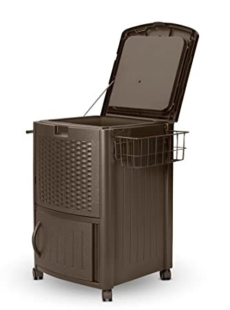 Marvelous Suncast DCCW3000 Resin Wicker Cooler