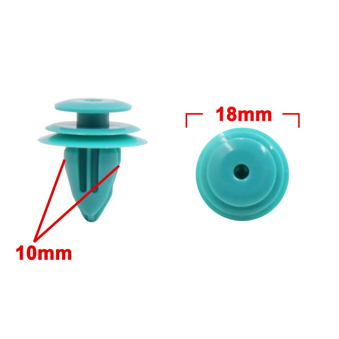 Uxcell a17111400ux0636 Blue 50Pcs Car Trim Panel Retainer Clips with 1 Fastener Remover for Toyota