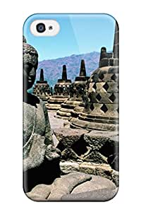 ZippyDoritEduard Perfect Tpu Case For Iphone 4/4s/ Anti-scratch Protector Case (buddhism Religious Abstract Religious)