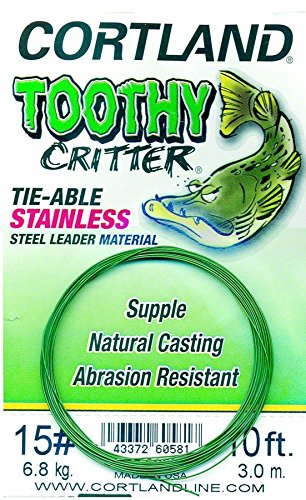 Cortland 605817 Toothy Critter Tie-able, Stainless Steel Leader