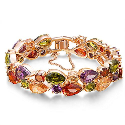 Fancydeli Rose Gold Plated Women Zircon Bracelet for Mother Women