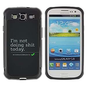 """Pulsar iFace Series Tpu silicona Carcasa Funda Case para Samsung Galaxy S3 III I9300 , Lazy vacaciones Cita Objetivos de Vida acciones divertidas"""""""