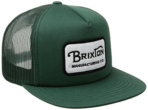 Trucker Cap Mesh Adjustable (Brixton Men's Grade High Profile Adjustable Mesh Hat, Chive, One Size)
