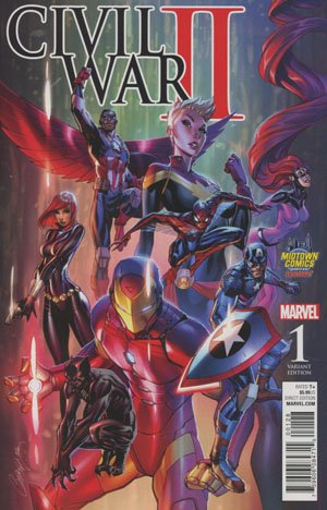 Download Civil War II #1 Cover B Midtown Exclusive J Scott Campbell Color Variant Cover pdf
