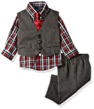 Nautica Dressy Vest Set, Red Check, 18 Months