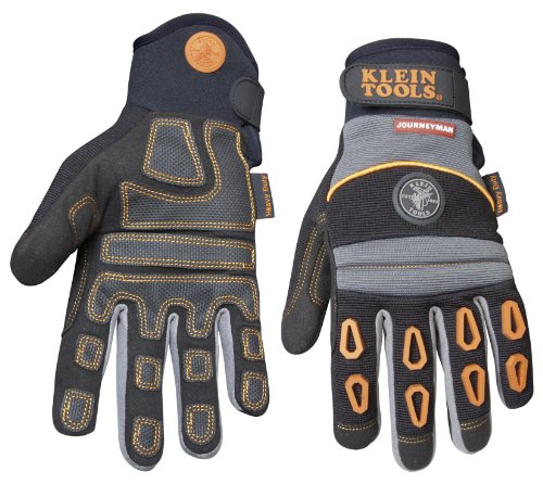 Klein Tools 40039 Journeyman Pro Heavy-Duty Protection Gloves, Large