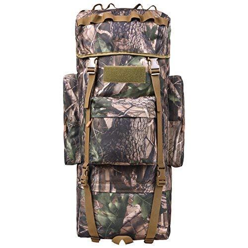 WXW Outdoor Rucksack 110-Liter Large-Capacity Camouflage Tactics Rucksack, Mehrzweck, Wasserdicht, Abnehmbarer Schultergurt, Bergsteigen, Wandern, Reitrucksack