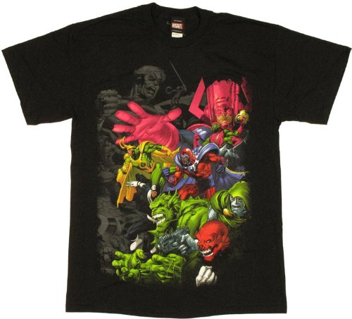 marvel galactus and villains tshirt xlarge buy online
