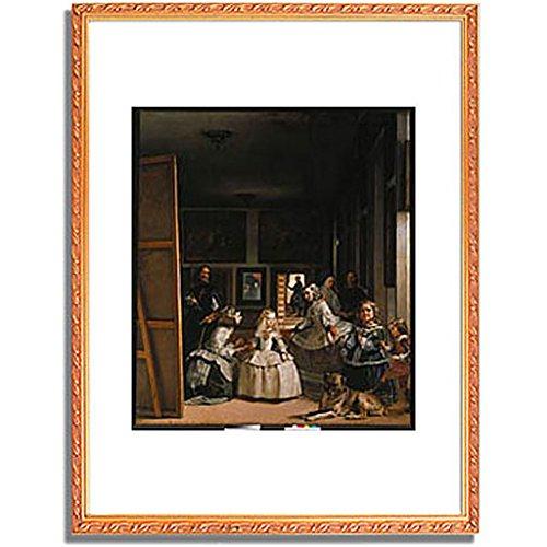 ベラスケス「ラスメニーナス Las Meninas (The courtladies). 」 インテリア アート 絵画 プリント 額装作品 フレーム:装飾(金) サイズ:S (221mm X 272mm) B00NKR20QM 1.S (221mm X 272mm)|4.フレーム:装飾(金) 4.フレーム:装飾(金) 1.S (221mm X 272mm)