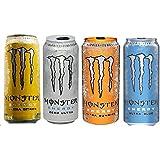 Monster Ultra Energy Drink Bundle - Twelve 16 Oz Cans (Three Each of Zero Ultra, Sunrise, Citron, Blue)