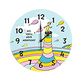 Trend Lab Dr. Seuss Kid Wall Clock, You\'ll Move Mountains