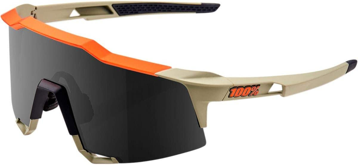 100 Percent SPEEDCRAFT-Soft TACT Quicksand-Smoke Lens Gafas Hombres Mediano Gris y Naranja-Cristal Negro