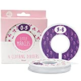 Baby Closet Dividers Set of 6, Floral Baby Nursery Decor, Perfect Closet Organizers for Baby Girl (Floral)