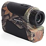 Wosports Range Finder for Hunting, Archery Rangefinder for Bow Hunting with Flagpole Lock - Ranging - Speed Function