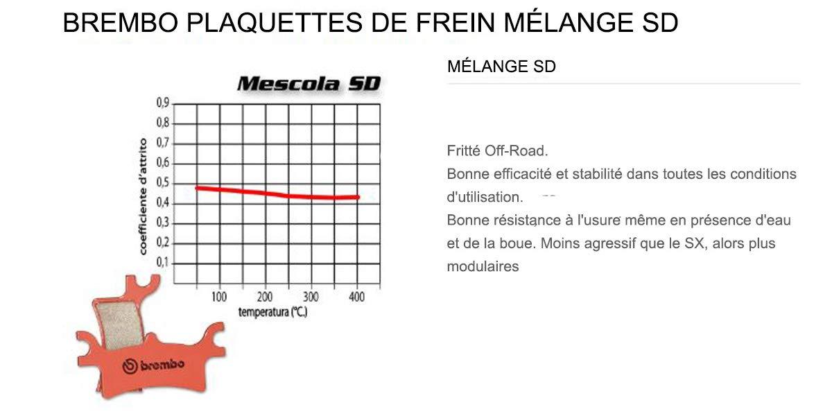 07HO48.SD Plaquettes Brembo Frein Arriere SD pour Hm CRF R 450 2004  2009