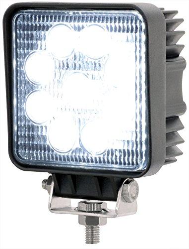 AdLuminis LED Arbeitsscheinwerfer eckig, 27 Watt 1620 Lumen, EPISTAR Chips, 60°, Für 12V 24V, IP67 Schutzklasse, Zusatzscheinwerfer, Rückfahrscheinwerfer, Suchscheinwerfer