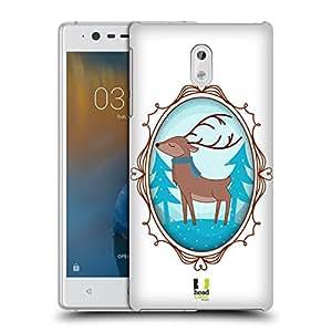 Head Case Designs Deer Winter Animals Hard Back Case for Nokia 3