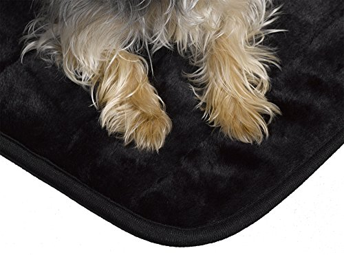 MidWest Quiet Time Pet Bed Deluxe Black Fur Pet Mat 35'' x 23'' by MidWest Homes for Pets (Image #1)