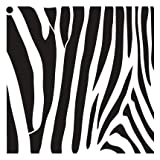 zebra stencils for painting walls - Zebra Stripes Stencil by StudioR12 | Fun Wild Animal Pattern Art - Large 18 x 18-inch Reusable Mylar Template | Painting, Chalk, Mixed Media | Use for Wall Art, DIY Home Decor - STCL633_5