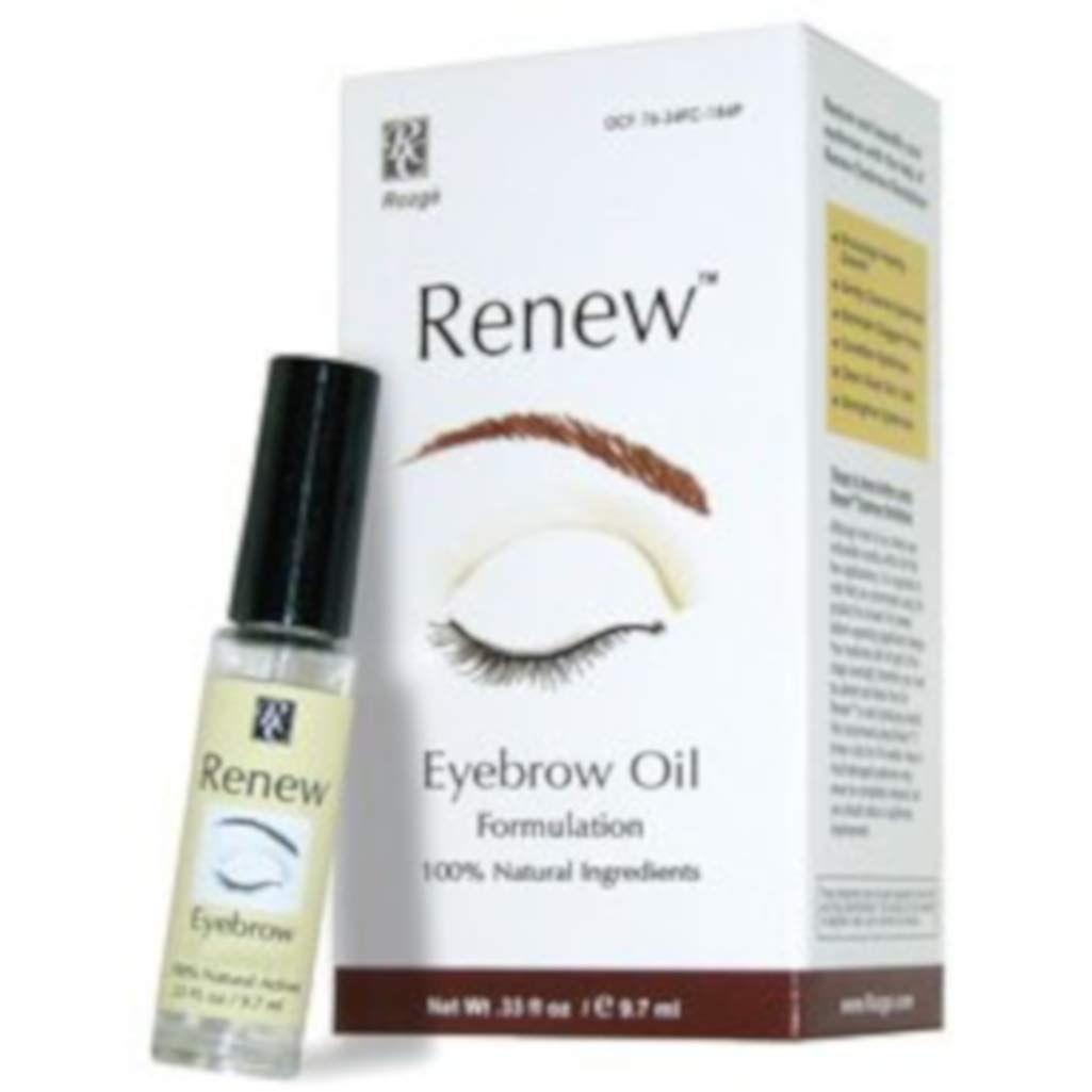 Renew Eyebrow Revitalizer Eyebrow Growth Oil - All Natural Formula Promotes Natural Hair Growth for Luxuriant Eyebrows - Gently Cleanses and Removes Dead Skin Cells for Healthy Vibrant Hair Follicles