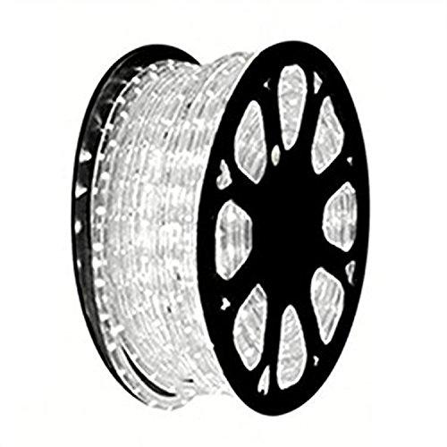 HEI LIANG 110V 2-Wire Waterproof LED Rope Light Kit for Background Lighting,Decorative Lighting,Outdoor Decorative Lighting,Christmas Lighting,Trees,Bridges,Eaves (50FT/15M, White) by HEI LIANG