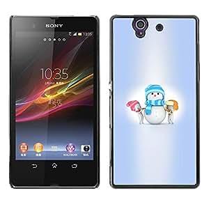 Be Good Phone Accessory // Dura Cáscara cubierta Protectora Caso Carcasa Funda de Protección para Sony Xperia Z L36H C6602 C6603 C6606 C6616 // Winter Kids Small Holidays