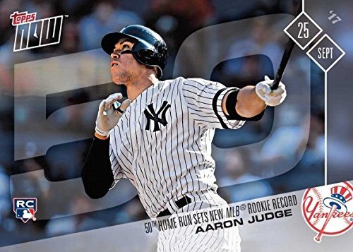 - 2017 Topps Now Baseball #654 Aaron Judge Rookie Card - 50th Home Run Sets MLB Rookie Record