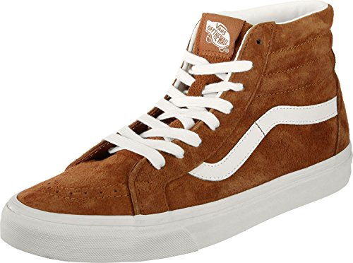 Vans Sk8-Mid Skate/Casual Leatherbrowntwht 12