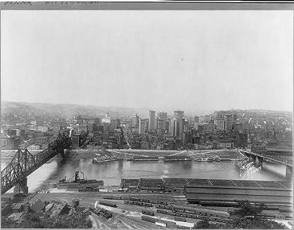 c8b7075e Amazon.com: Photo: Panoramic View, Rail yards, coal barges, July 2 ...