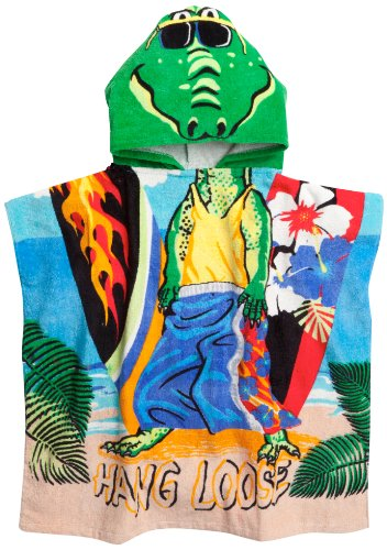 Northpoint Alligator Surfer Dude Kids Hooded Beach Towel, 24 x 48 Inch Kids Alligator