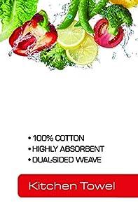 T-fal Textiles Veggie Print Dual Sided Woven Weave Cotton Kitchen Dish Towel